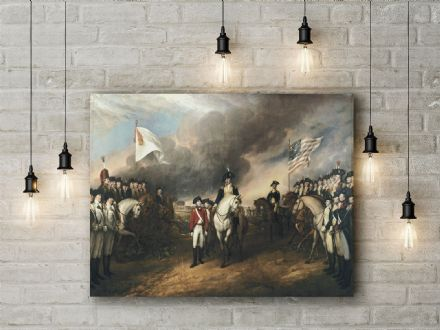 Trumbull: The Surrender of Lord Cornwallis. Fine Art Canvas.